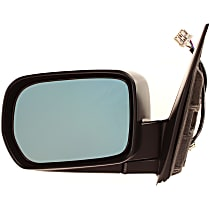 Driver Side Heated Mirror - Power Glass, Manual Folding, Without memory, Paintable
