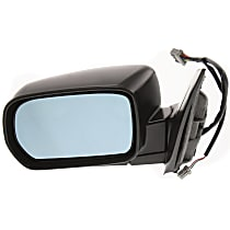 Driver Side Heated Mirror - Power Glass, Manual Folding, With memory, Paintable