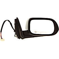 Passenger Side Heated Mirror - Power Glass, Manual Folding, In-housing Signal Light, Without memory, Paintable