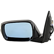 Driver Side Heated Mirror - Power Glass, Manual Folding, In-housing Signal Light, With Memory, Paintable