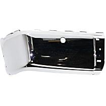 CAPA Certified Rear, Driver Side Steel Bumper End, Chrome