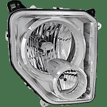 Passenger Side Headlight, With bulb(s) - With Fog Light, Clear Lens