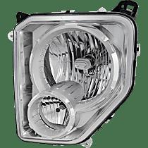 Driver Side Headlight, With bulb(s) - With Fog Light, Clear Lens