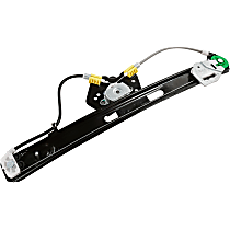 Rear, Driver Side Power Window Regulator, Without Motor - Sedan