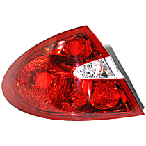 CAPA Certified Driver Side Tail Light, With bulb(s)