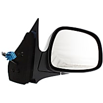 Passenger Side Heated Mirror - Power Glass, Manual Folding, Without Signal Light, With Memory, Paintable