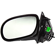 Driver Side Non-Heated Mirror - Power Glass, Manual Folding, Without Signal Light, Without memory, Paintable