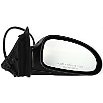 Passenger Side Non-Heated Mirror - Power Glass, Manual Folding, Without Signal Light, Without memory, Paintable