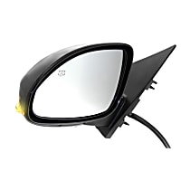 Driver Side Heated Mirror - Power Glass, Power Folding, In-housing Signal Light, With Memory, Paintable