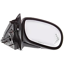 Passenger Side Heated Mirror - Power Glass, Manual Folding, In-glass Signal Light, With Memory, Paintable