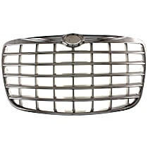 Grille, Chrome Shell with Painted Silver Insert