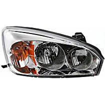 Passenger Side Halogen Headlight, With bulb(s) - 2004-2008 Chevrolet Malibu, CAPA CERTIFIED