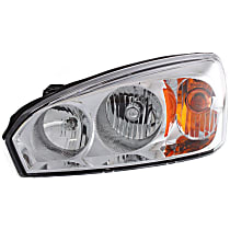 Driver Side Halogen Headlight, With bulb(s) - 2004-2008 Chevrolet Malibu, CAPA CERTIFIED
