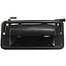 Exterior Door Handle, Smooth Black Front or Rear, Driver Side