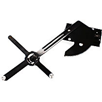 Front, Driver Side Manual Window Regulator, Manual Crank Type