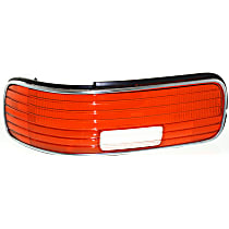 ReplaceXL Tail Light Lens - C730102 - Driver Side, Red and clear, Plastic, Direct Fit, Sold individually