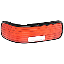 ReplaceXL Tail Light Lens - C730104 - Driver Side, Red, Plastic, Direct Fit, Sold individually