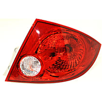 CAPA Certified Passenger Side Tail Light, With bulb(s) - Clear & Red Lens, Sedan