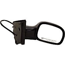 Passenger Side Heated Mirror - Power Glass, Manual Folding, Without Signal Light, Without memory, Paintable
