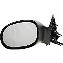 Driver Side Non-Heated Mirror - Power Glass, Non-folding, Without memory, Textured Black