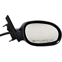 Passenger Side Heated Mirror - Power Glass, Non-folding, With memory, Textured Black