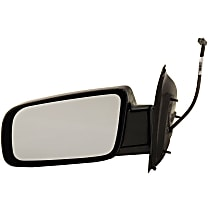 Driver Side Non-Heated Mirror - Power Glass, Manual Folding, Without memory, Paintable