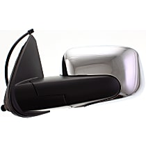 Driver Side Mirror - Manual Folding, Without Signal Light, Chrome