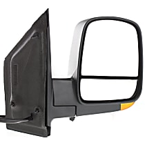 Passenger Side Heated Mirror - Power Glass, Manual Folding, In-housing Signal Light, Without memory, Textured Black