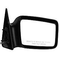 Passenger Side Non-Heated Mirror - Manual Remote Glass, Non-folding, Without Signal Light, Without memory, Paintable