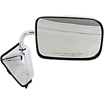 Passenger Side Non-Heated Mirror - Manual Glass, Manual Folding, Without memory, Chrome