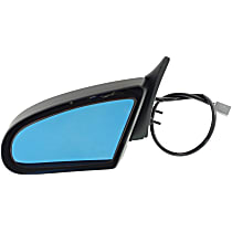 Driver Side Non-Heated Mirror - Power Glass, Manual Folding, Without Signal Light, Paintable