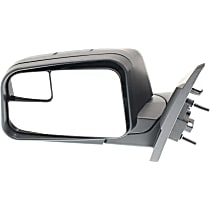 Driver Side Non-Heated Mirror - Power Glass, Manual Folding, Without Signal Light, Without memory, Textured Black
