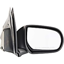 Passenger Side Non-Heated Mirror - Manual Glass, Manual Folding, Without memory, Textured Black
