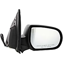 Passenger Side Non-Heated Mirror - Power Glass, Manual Folding, Without memory, Textured Black