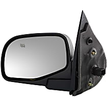 Driver Side Heated Mirror - Power Glass, Manual Folding, Without Signal Light, Without memory, Textured Black