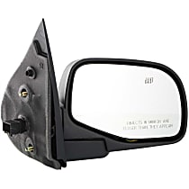 Passenger Side Heated Mirror - Power Glass, Manual Folding, Without Signal Light, Without memory, Textured Black