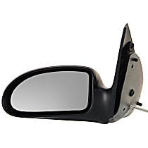 Driver Side Non-Heated Mirror - Manual Remote Glass, Non-folding, Without Signal Light, Without memory, Textured Black