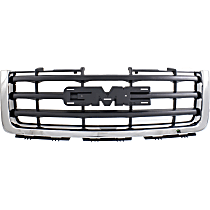 NSF Certified Grille, Chrome Shell with Painted Black Insert