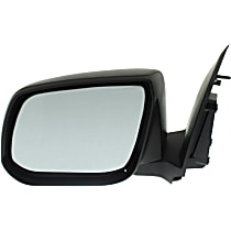 Driver Side Non-Heated Mirror - Manual Glass, Manual Folding, Without memory, Textured Black