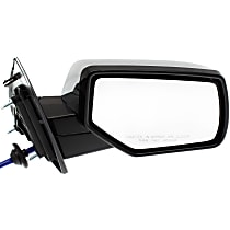 Passenger Side Heated Mirror - Power Glass, Manual Folding, Without memory, Chrome