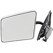 Driver Side Non-Heated Mirror - Manual Glass, Manual Folding, Without Signal Light, Without memory, Chrome