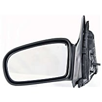 Driver Side Non-Heated Mirror - Power Glass, Non-folding, Without Signal Light, Without memory, Paintable