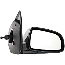 Passenger Side Non-Heated Mirror - Manual Remote Glass, Manual Folding, Without memory, Paintable