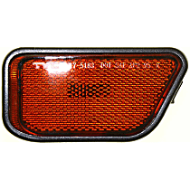 Rear, Passenger Side Side Marker, With bulb(s)