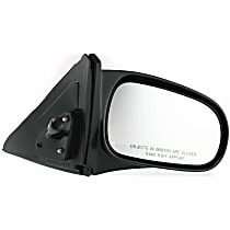 Passenger Side Non-Heated Mirror - Manual Remote Glass, Non-folding, Without Signal Light, Without memory, Textured Black