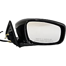 ReplaceXL Power Mirror, Passenger Side, Sedan, Manual Folding, Non-Heated, Paintable