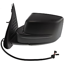 ReplaceXL Power Mirror, Driver Side, Manual Folding, Heated, w/ Memory, Textured Black