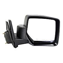 ReplaceXL Manual Mirror, Passenger Side, Manual Folding, Textured Black