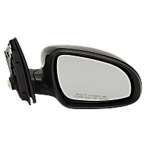 Passenger Side Non-Heated Mirror - Power Glass, Manual Folding, Without Signal Light, Paintable
