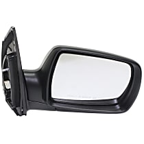 Passenger Side Non-Heated Mirror - Power Glass, Manual Folding, In-housing Signal Light, Without memory, Paintable